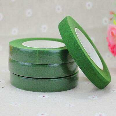 Baoblaze 12pcs 30m Florist Floral Tape Wedding Bouquet Stem Wrap Dark Green