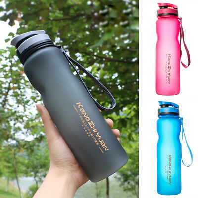 1L Outdoor Sports Drinking Water Bottle BPA Free Leak-Proof Cycling Training Cup