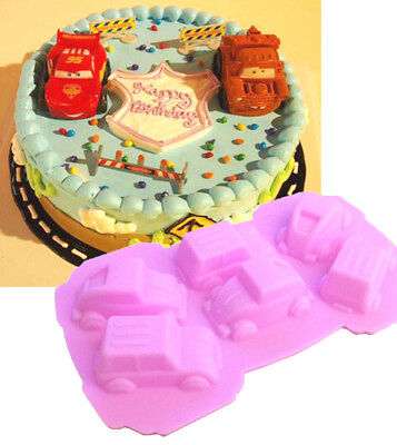 """Chocolate melts -SOAP- jello muffin, Silicone """"6 cavity cars"""" mould. DIY."""