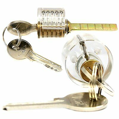 Transparent Clear Visible Inside Padlock Locksmith Training Practice Lock #H2