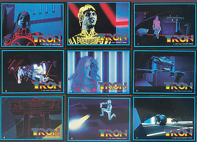TRON - Complete Trading Card / Sticker Set (66/8) - 1982 Donruss - NM