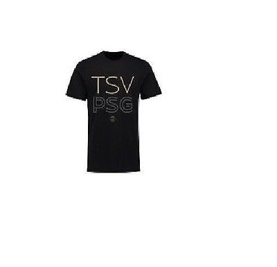 Mens S Paris Saint-Germain TSV T-Shirt - Black M109