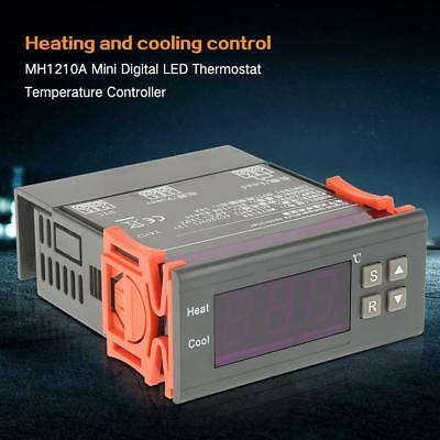 MH1210A DC AC Mini Digital LED Thermostat Temperature Controller +Sensor Probe