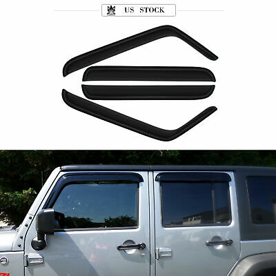 2pc Front Sunrain Guard Vent Shade Window Visors Fit 07 17 Jeep