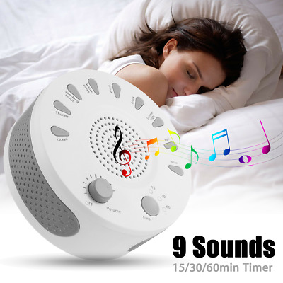 Deep Sleep Soothing Relax Machine Noise Therapy 9 Sounds 15/30/60min Conditioner