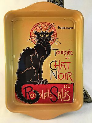 New French Small Tray Tin Tournée Du Chat Noir Paris France Black Cat Romantic
