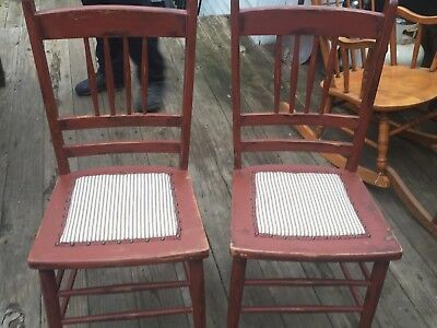 Antique Country Painted Chairs