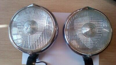 Pair Marchal Fog Lights 660/760 with mounting brackets