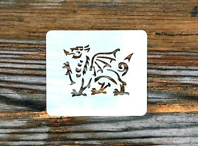 Welsh Rugby Dragon Face Painting Stencil 7cm x 6cm 190micron Washable Reusable