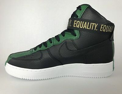free shipping 35b02 9e0a7 Nike Air Force 1 High BHM QS 836227 002 AF1 Reed Green Black History Month