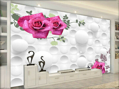 Pure Focal Violet 3D Full Wall Mural Photo Wallpaper Printing Home Kids Decor