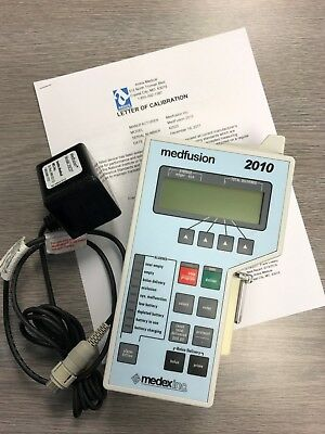 Medfusion 2010 syringe pump.  Newly Certified 2018 FREE SHIPPING !!!