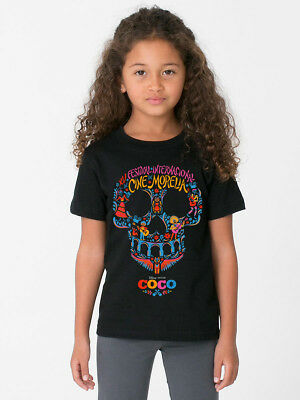 Coco Disney Day Of The Dead Skull High Res Colour Ck64 Kids Black T Shirt