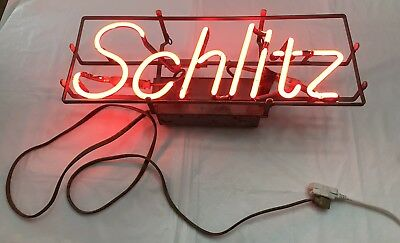 Vintage Schlitz Brewing Co. Neon Beer Bar Light Works