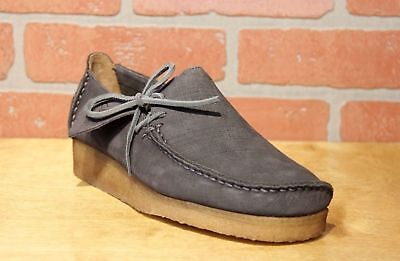 Clarks Originals Lugger Men's Charcoal Nubuck L-Stitch Casual Shoes 26122158