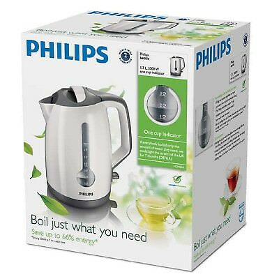 Philips HD4644-00 3000 Watt 1.7 Litre Energy Efficient Kettle - White