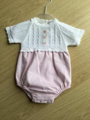 Spanish Style Girls Pique And Knit Bubble Romper By By Zip Zap New For SS'18