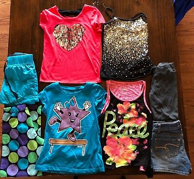 11 pcs. Justice Girls Clothing mixed lot size 8