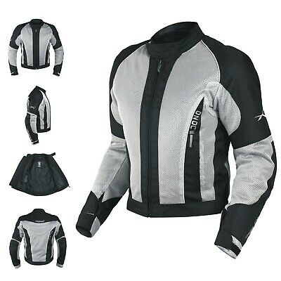 CE Armour Mesh Summer Tex Jacket Apparel Motorcycle Textile Sonicmoto Grey