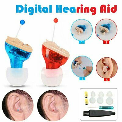 Portable Invisible Ear Hearing Aid Enhancer Mini In-Ear Sound Voice Amplifier
