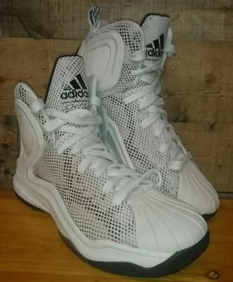 official photos 1bdae 570d7 Adidas Mens D Rose 5 Boost Og White Basketball Shoes C77249 Size 11.5