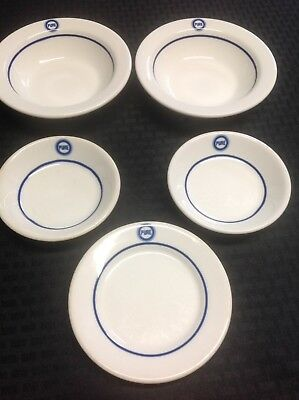 """Lot Of (5) Pieces Of """"PURE OIL"""" Vitrified China - Made In The U.S.A."""