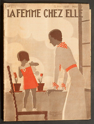 'la Femme Chez Elle' French Vintage Magazine 15 May 1931