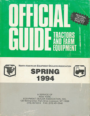 Tractors and Farm Equipment Official Guide  1994