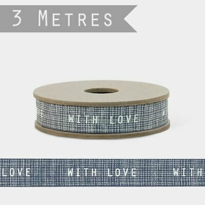 East of India Ribbon WITH LOVE 3m Craft Grosgrain Ribbon