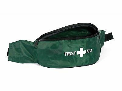 Empty Green First Aid Kit Case Bum Bag for First Aider Waist Buckle Zip Pouch