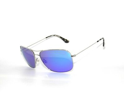 11f6c8290b2 NEW MAUI JIM Sunglasses Breezeway B773-17 Silver   Blue Hawaii Blue ...