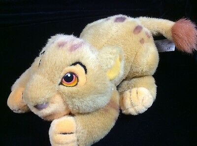 "Disney Store Lion King Simba Crouching Plush Soft Toy 8"" Stuffed Animal"