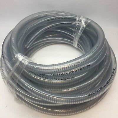 Vardex #1400238-50 Clear Steel Wire Reinforced Pvc Suction Hose