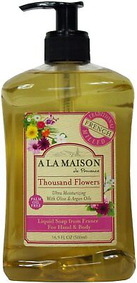 French Liquid Soap, A La Maison, 16.9 oz Thousand Flowers