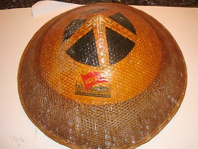 VintageChinese Conical Asian Rice Paddy Hat Rocket Industry Unusual Satellite L