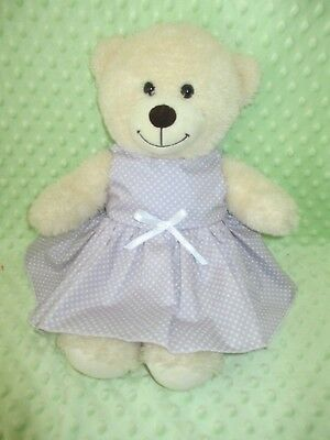 "DRESS  suitable Build a Bear  ""Mauve with Spots  """