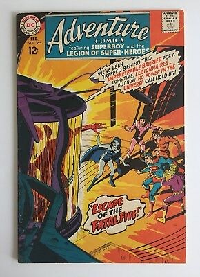 "Adventure Comics #365 (DC 1967) Superboy~Legion~""Neal Adams Cover"" VG/F"