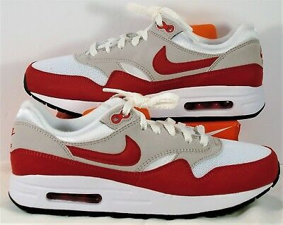 f3db8f07b695 NIKE AIR MAX 1 One OG GS Varsity Red   White Running Shoes Sz 7Y NEW ...
