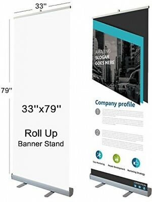 T-Sign 33 X 79 Retractable Roll Up Banner Stand With Traveling Bag For Trade