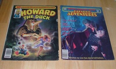 Howard The Duck #9 & Bizarre Adventures  #33 Marvel Magazine Group