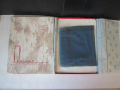 Pair Clausser Kleer Sheer Exquisite Nylon Hosiery M-165  Size 9 1/2 Taupe w Box