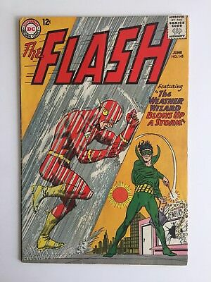 """The Flash #145 (DC 1964) """"The Weather Wizard Blows Up A Storm"""""""