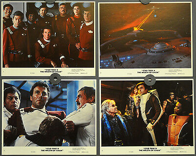 Star Trek Ii:  Wrath Of Khan 1982 Orig 8X10 Mint Lobby Card Set William Shatner