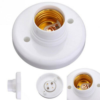 E27 Plastic Screw Cap Socket Light Bulb Holder Fitting Lamp Fixing Base Stand