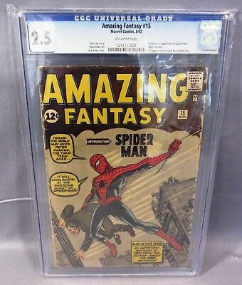 AMAZING FANTASY #15 (Spider-Man 1st appearance) CGC 2.5 GD+ Marvel Comics 1962