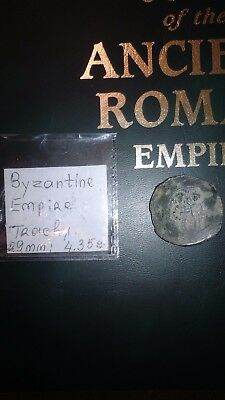 "Byzantine empire. Bronze Trachy.  ""Cup shaped"" Ancient coin."