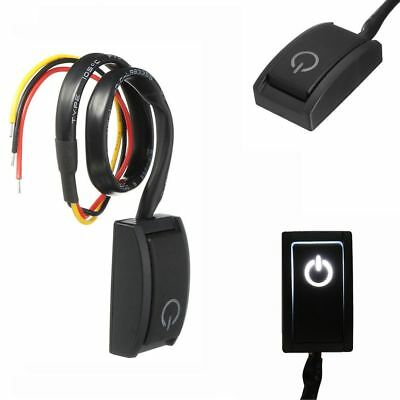 LED Light Paste Latching Car Push Button ON/OFF Switch DC12V 200mA