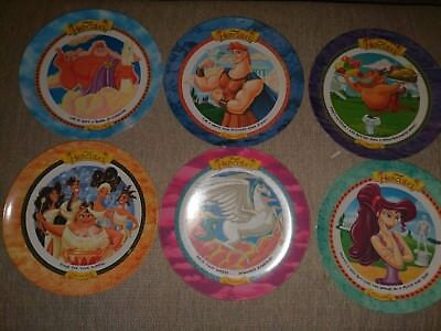 Vintage 1997 Mcdonalds Hercules Set Of 6 Plates