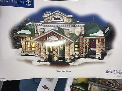 Train Station Dept 56 The Original Snow Village 55331 Retired Christmas Perfect!
