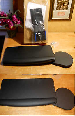 """NIB* HON Keyboard Tray with Palm Rest And Mouse Tray HDLKPP 20"""" x 11"""" Black"""